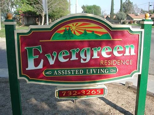 Evergreen Senior Care Sign